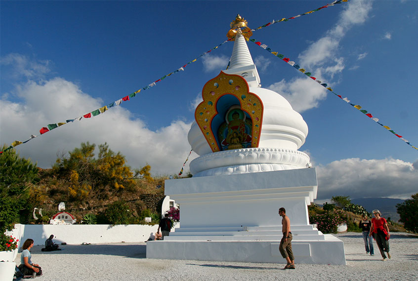 Stupas are symbols of enlightenment in Buddhism